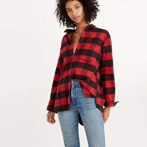 Madewell oversized boyfriend flannel buffalo check